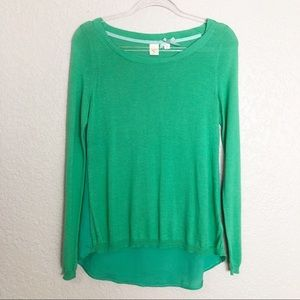 EUC Yellow Bird Label green knit sweater top